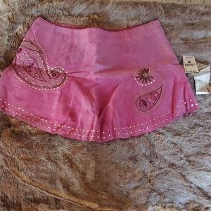 Wilson leather 100% suede fuchsia  mini skirt